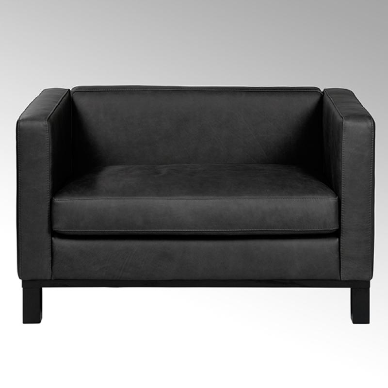 Lambert Bella, Sofa, Leder Santa Fe, schwarz
