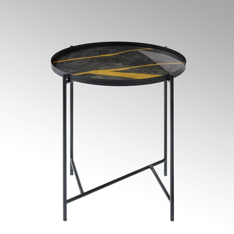 Lambert Tabio, rund, anthrazit-gold, D 46 cm