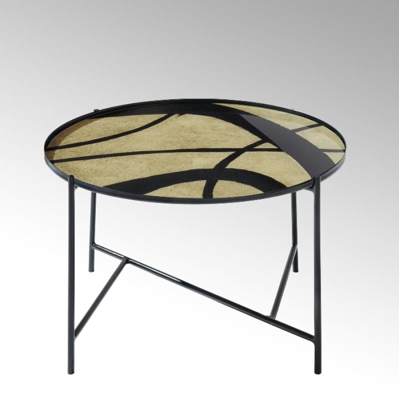 Lambert Tabio, rund, elfenbein-schwarz, D 60 cm