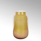 Lambert Ferrata Vase, safran/metallic, groß