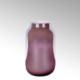 Lambert Ferrata Vase, bordeaux/metallic, groß