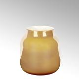 Lambert Ferrata Vase, safran/metallic, klein