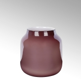 Lambert Ferrata Vase, bordeaux/metallic, klein