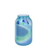Lambert Ferrata Vase, arctic blue / metallic, groß
