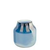 Lambert Ferrata Vase, arctic blue / metallic, mittel