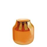 Lambert Ferrata Vase, kürbis / metalllic, mittel