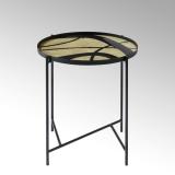 Lambert Tabio, rund, elfenbein-schwarz, D 46 cm