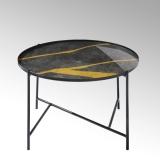 Lambert Tabio, rund, anthrazit-gold, D 60 cm