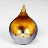 Lambert Caldera H 20 cm, gebürstet / gold