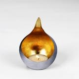 Lambert Caldera H 15 cm, gebürstet / gold