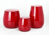 Lambert Pisano Vase groß rot